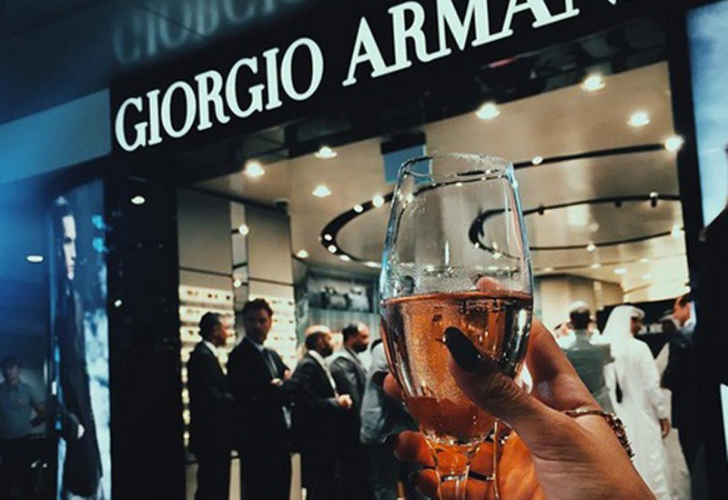 GIORGIO ARMANI AT THE DOHA HAMAD INTERNATIONAL AIRPORT